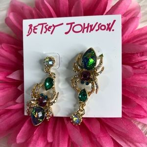 Betsey Johnson Creepshow Mismatch Spider Earrings